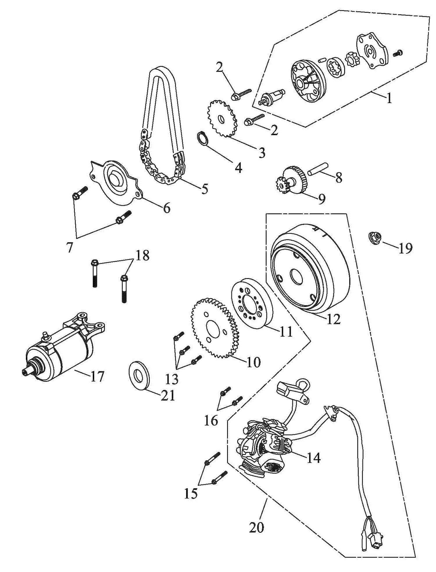 Generator, Anlasser, Ölpumpe