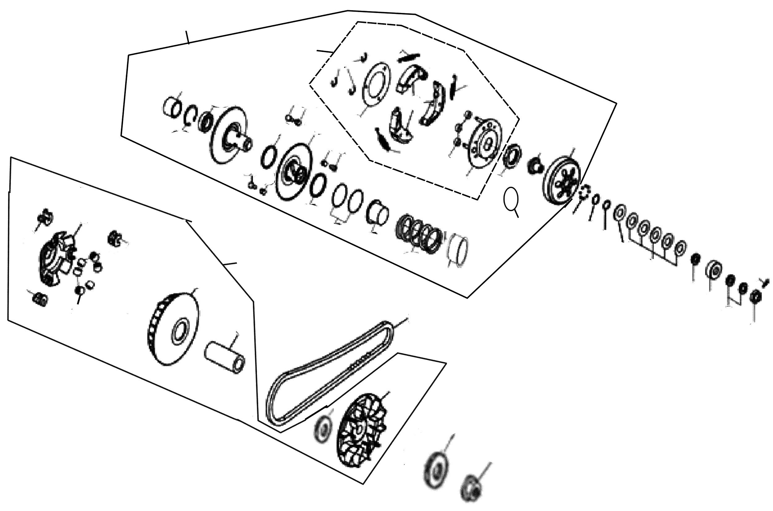 Variomatik, Kupplung