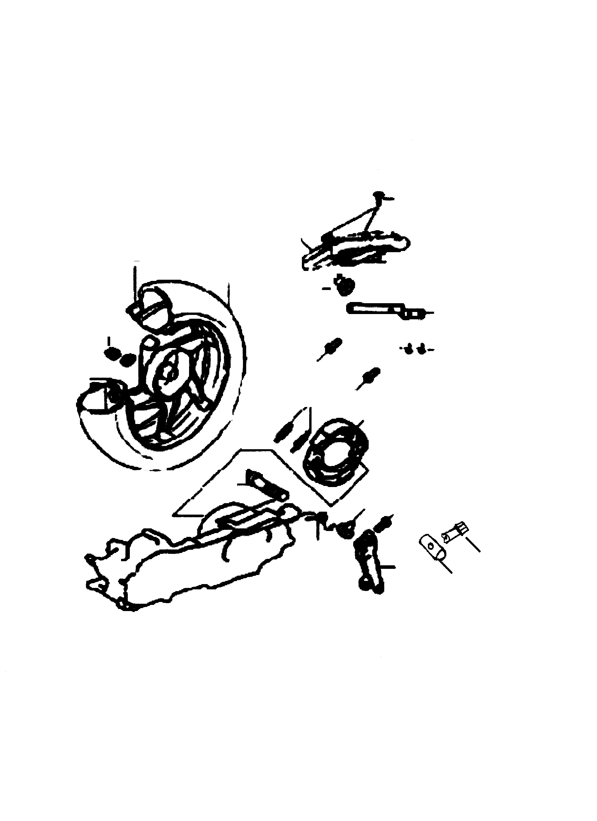Hinterrad / Kotflügel / Bremse hinten