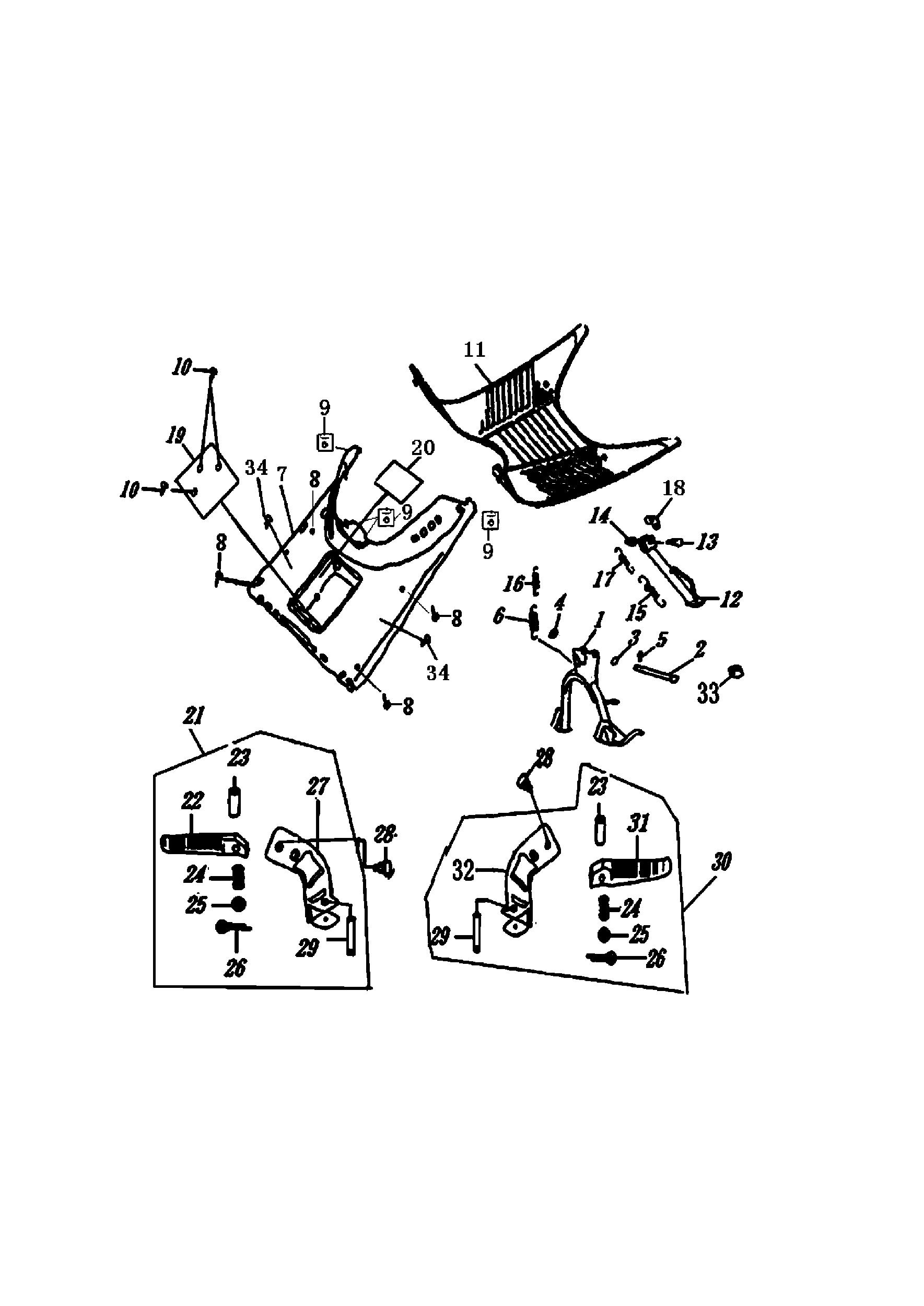 Ständer / Trittbrett