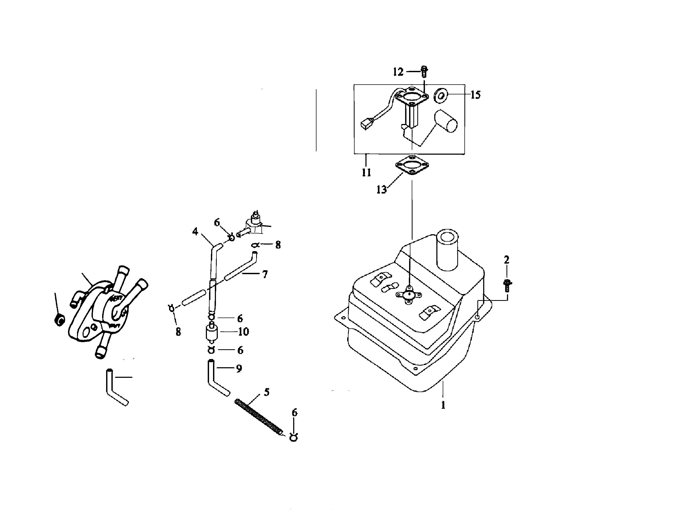 Benzinhahn / Filter