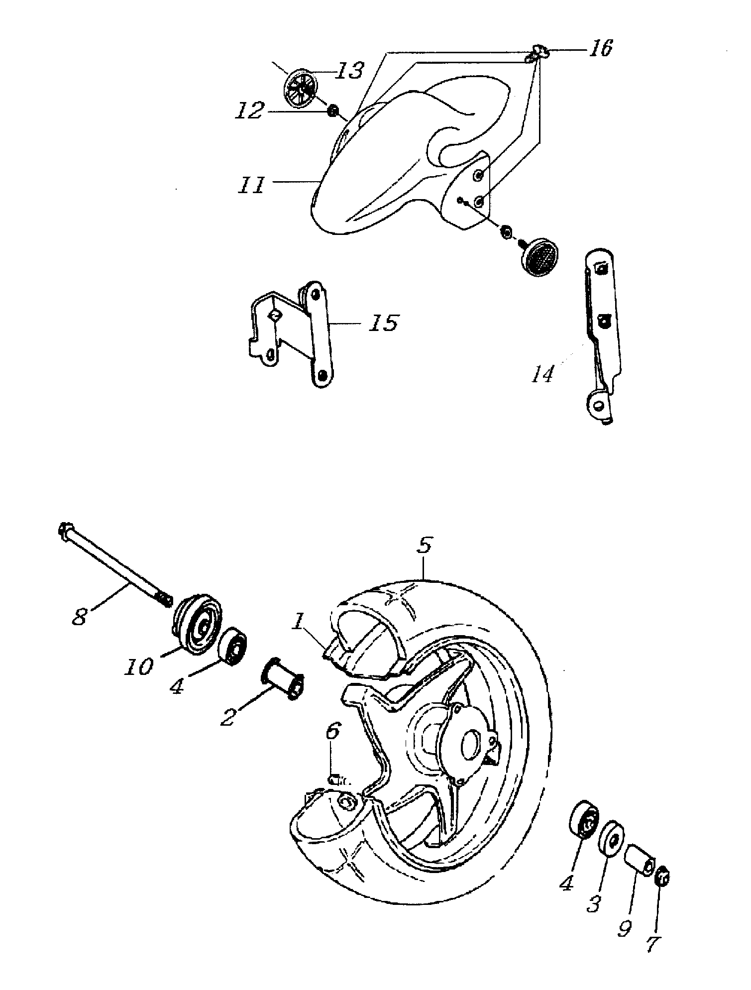 Vorderrad / Kotflügel