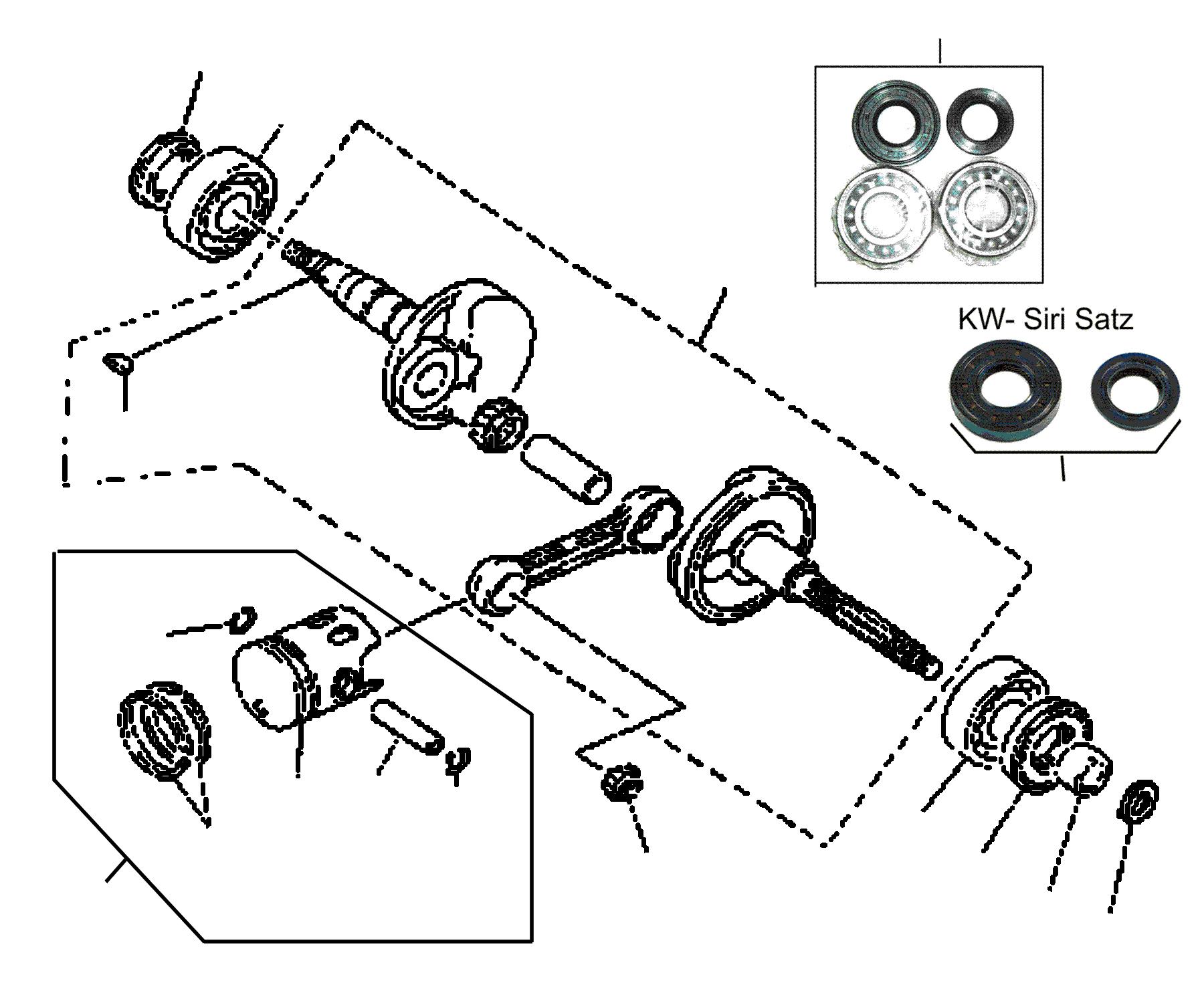 Kurbelwelle / Kolben