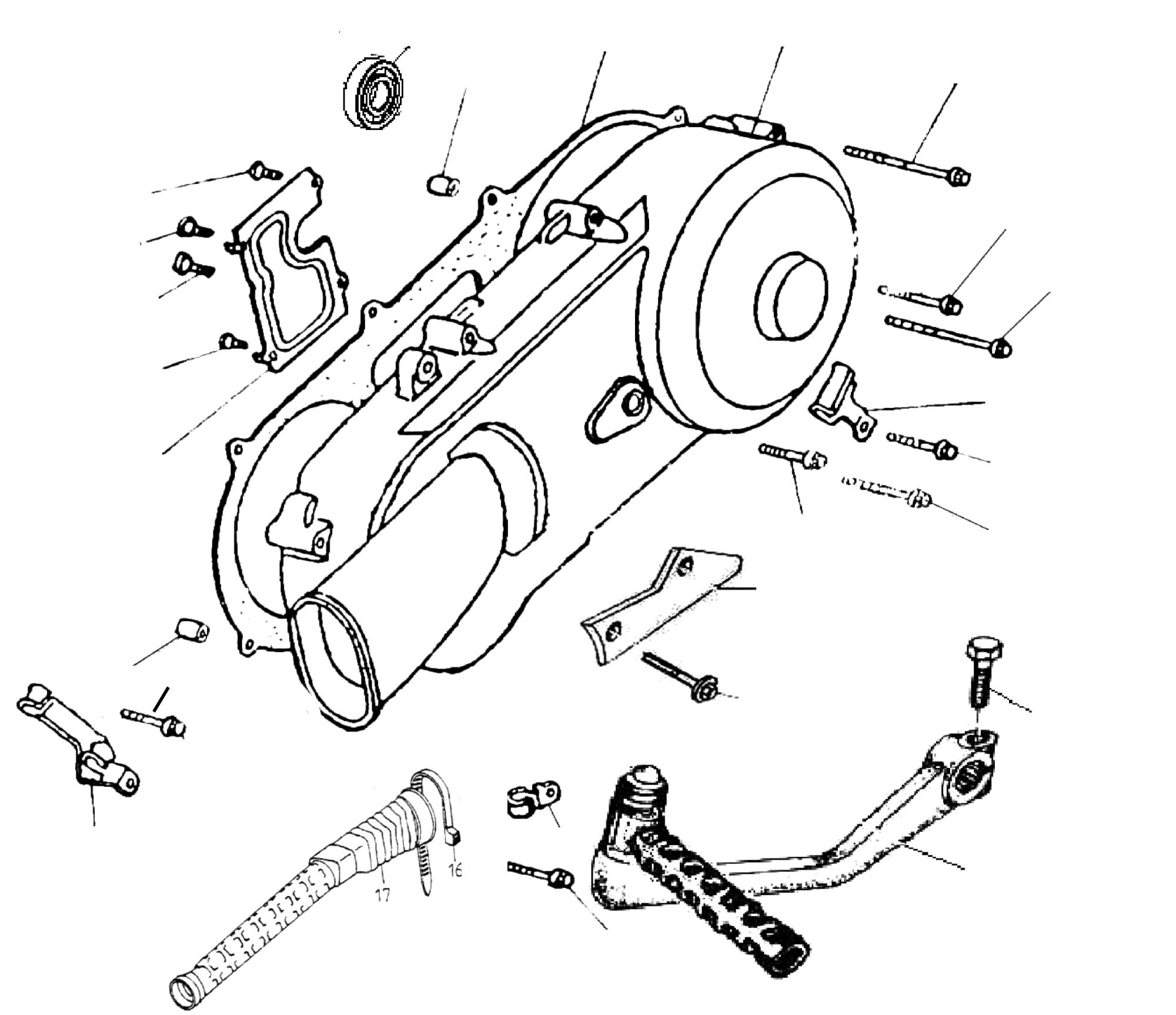 Gehäusedeckel links, Kickstarter