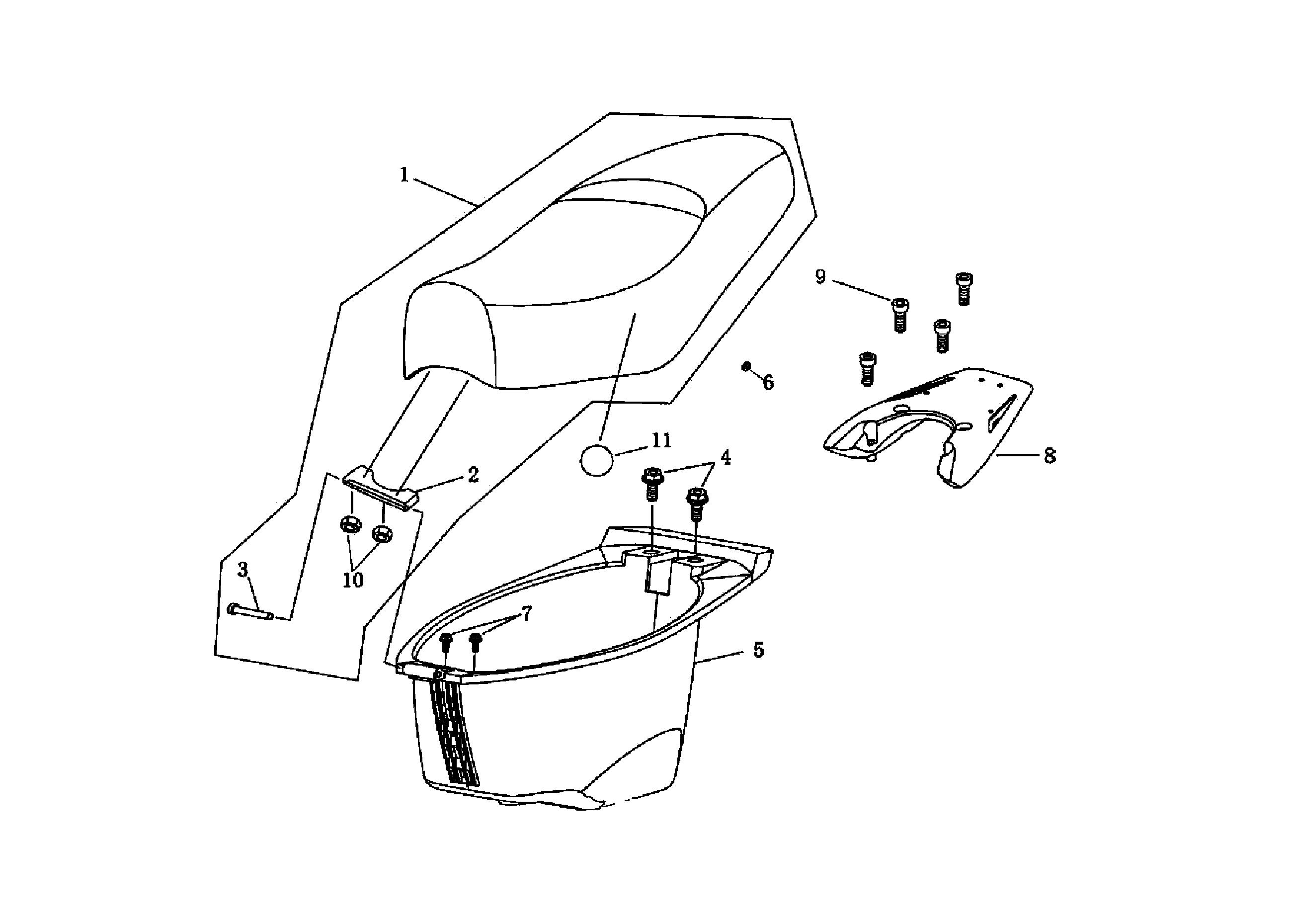 Sitzbank / Helmfach / Gepäckträger