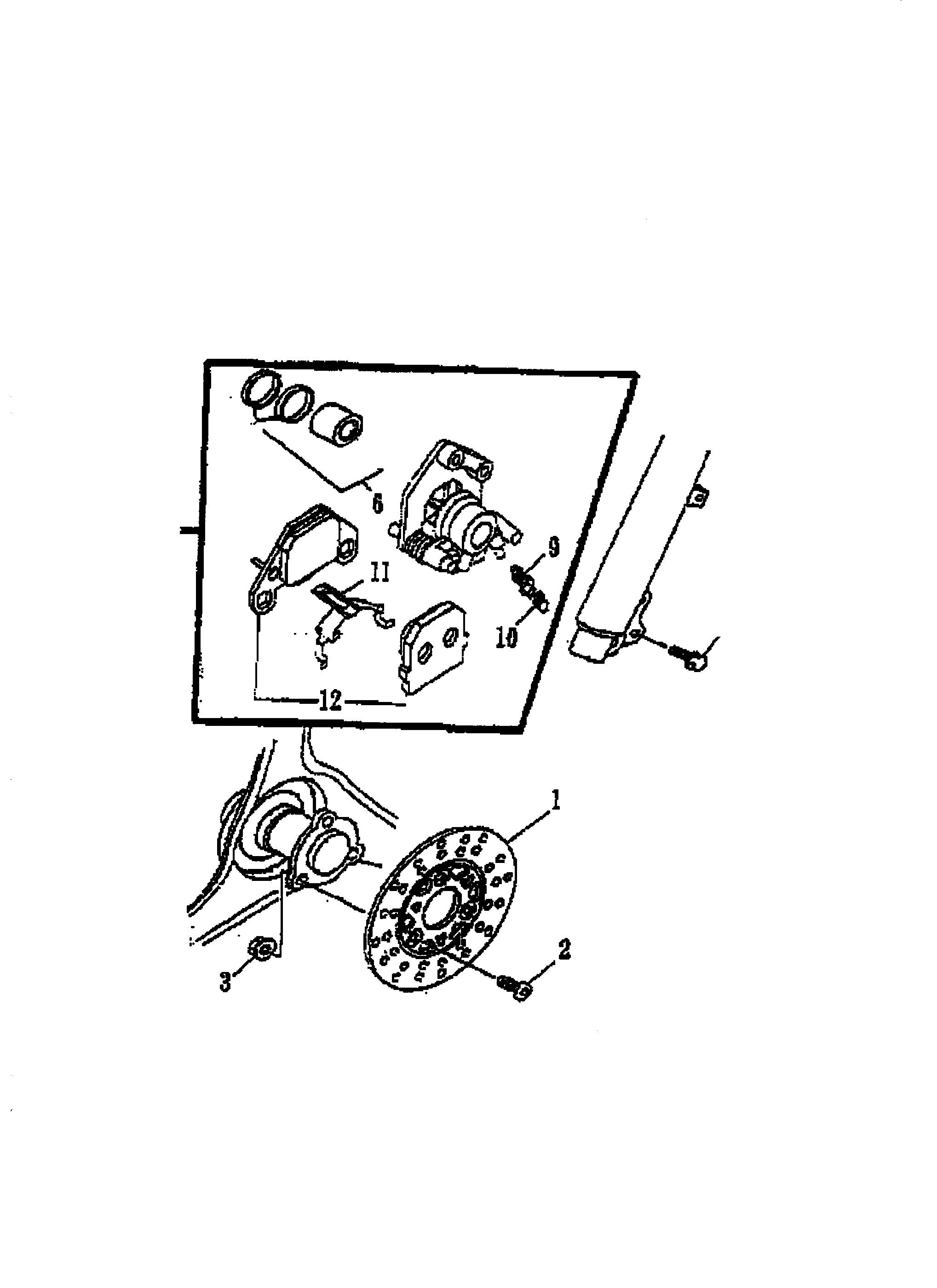 Bremsscheibe / Bremszange