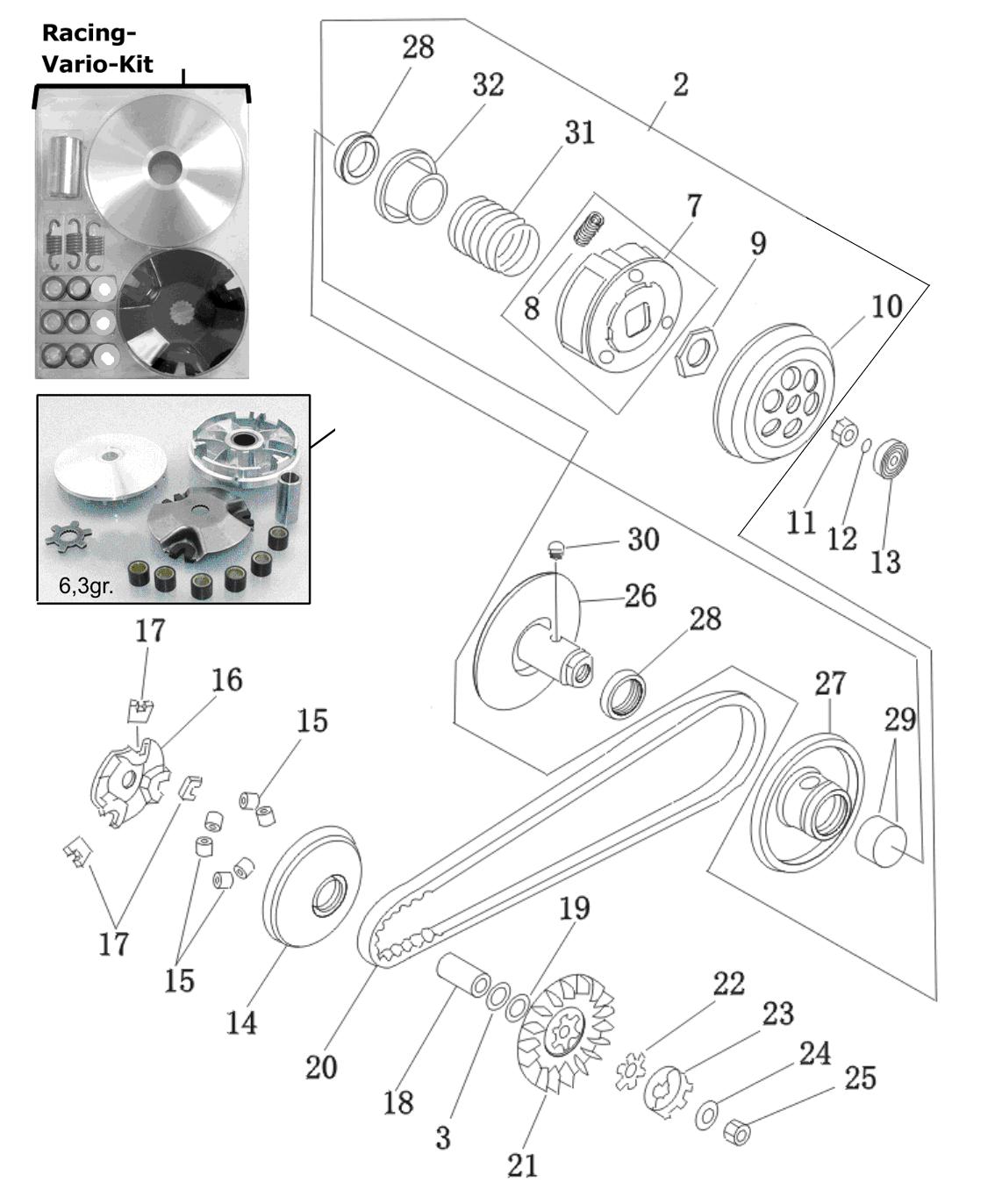 Kupplung / Variomatik