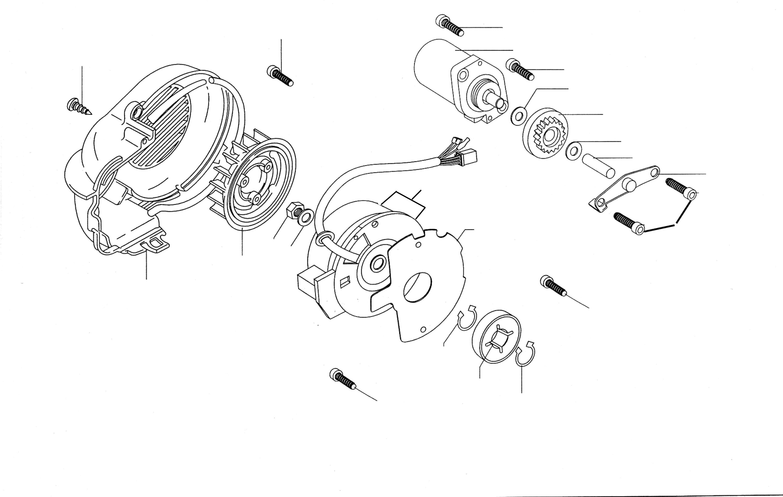 Lichtmaschine, Anlasser, Gebläse