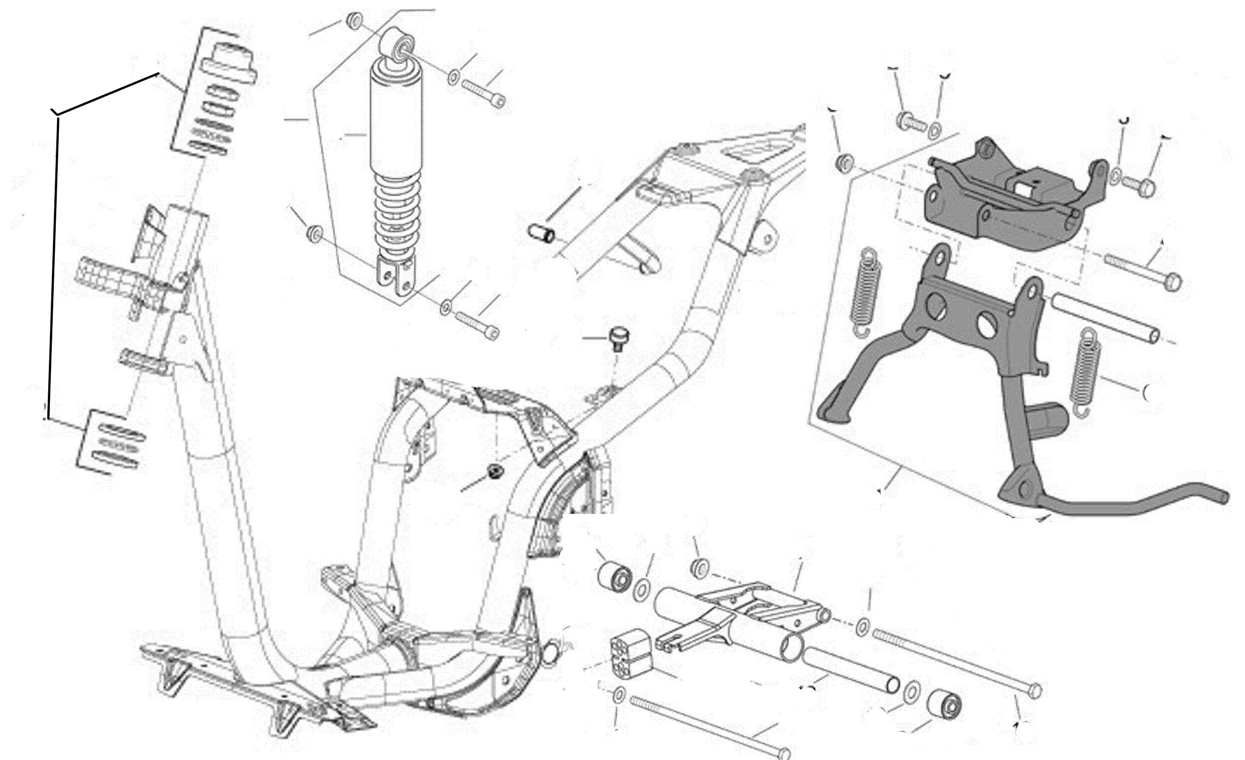 Rahmen, Ständer, Motoraufhängung