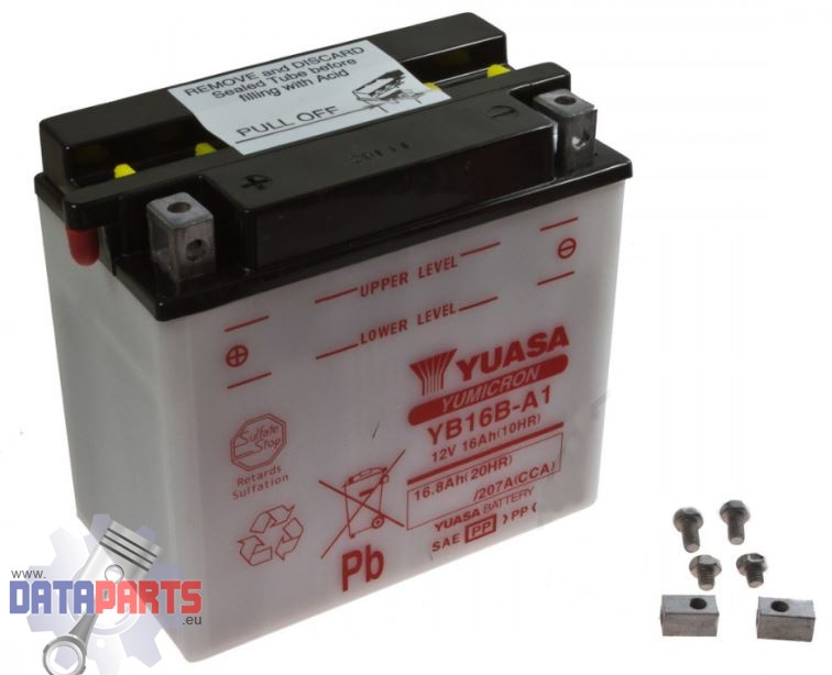 Batterie YB16B-A1 Yuasa ohne Säurepack