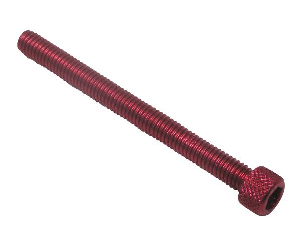 Imbusschraube Alu M6x65 rot
