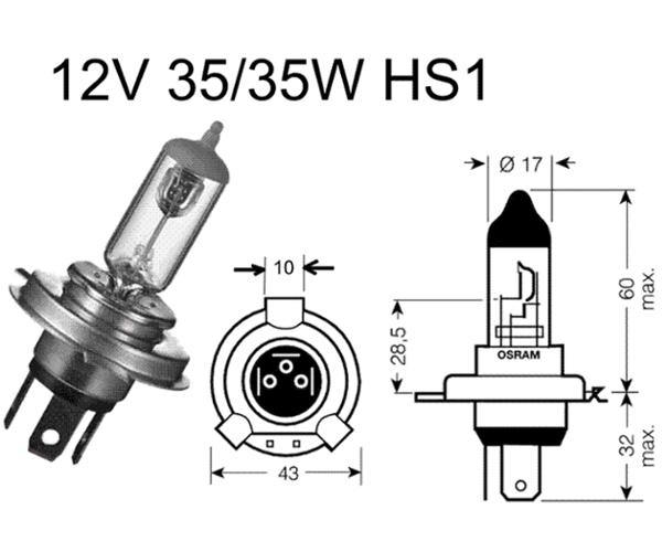 Birne HS1 12V 35/35W