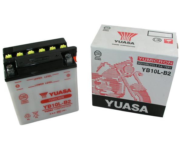 Batterie Yuasa YB10L-B2 12V11AH ungefüllt ohne Säurepack
