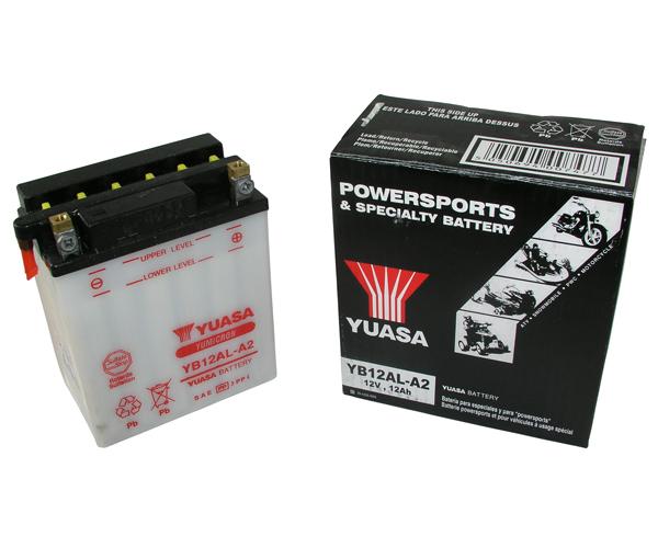 Batterie Yuasa YB12AL-A2 ungefüllt ohne Säurepack