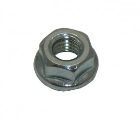 HEX FLANGE NUT WITH SERRATION 6mm