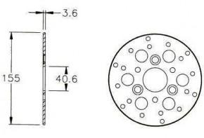 Bremsscheibe v. D 155mm Vamos/Peugeot SV50/Zenith