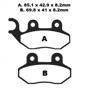 BRAKE PAD SET EBC SFA264