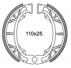 Bremsbacken Satz 110x25 C4