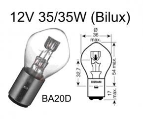 Birne 12V 35/35W Bilux