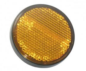 Reflektor gelb rund