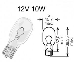 Birne 12V 10W Glassockel