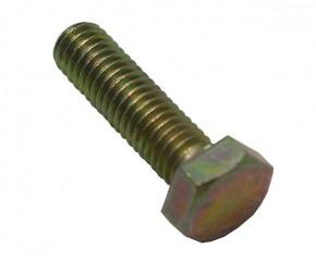 Schraube M6x22 Sechskant gelb verz.